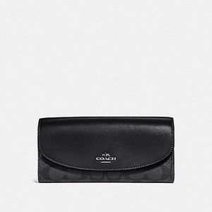 Slim Envelope Wallet In Signature Coated Canvas
